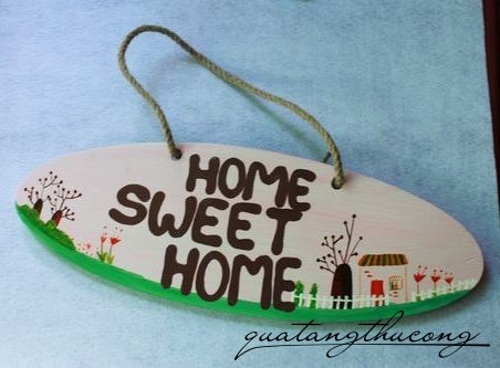 Bảng gỗ Home Sweet Home 3