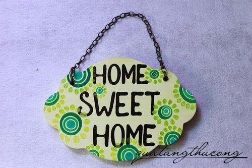 Bảng gỗ Home Sweet Home 4