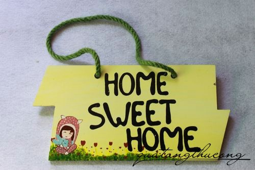 Bảng gỗ Home Sweet Home 5