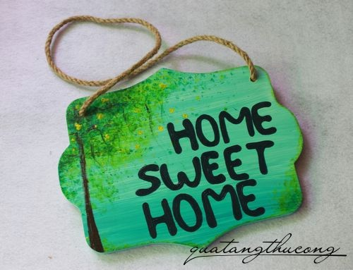 Bảng gỗ Home Sweet Home 7