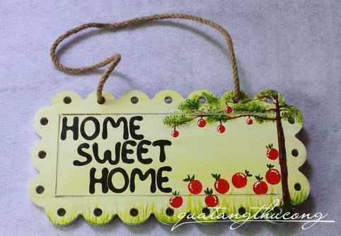 Bảng gỗ Home Sweet Home 8