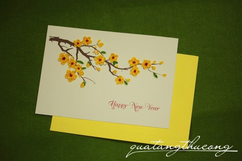 Thiệp quilling Happy new year