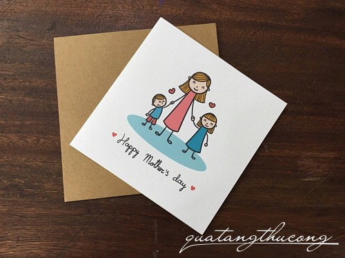 Thiệp in Happy Mother's day 1