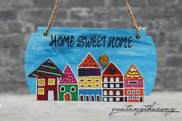 Bảng gỗ Home Sweet Home 9