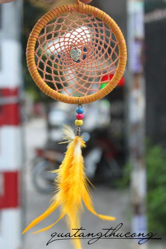 Dreamcatcher màu cam made with love