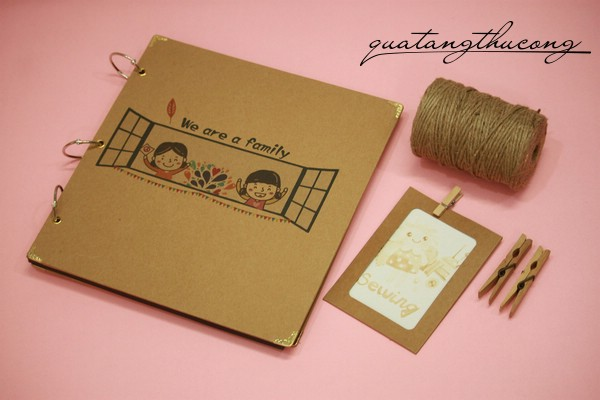 Album scrapbook vintage bìa We are a family