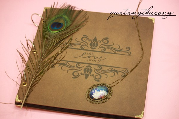 Album scrapbook vintage bìa our love story