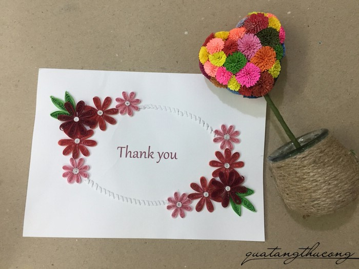 Thiệp quilling Thank you