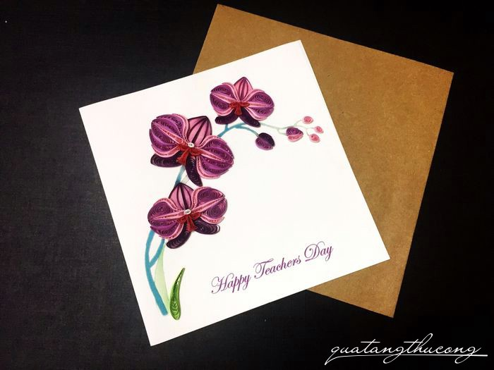 Thiệp quilling Happy Teacher's Day