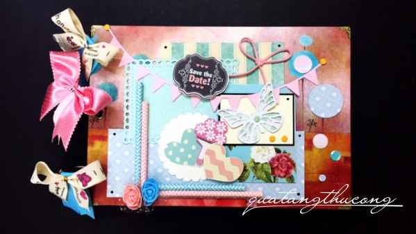 "Scrapbook ""Save the date"""