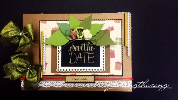 "Scrapbook ""Save the date"" 2"